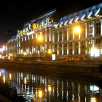 Tribunalul BUcuresti by  night